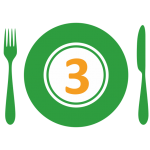 3. Hokaido pumpkin on cumin with green beans, brown rice +SOUP