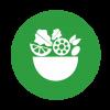 Šalát:  Mozzarellový šalát s olivami
