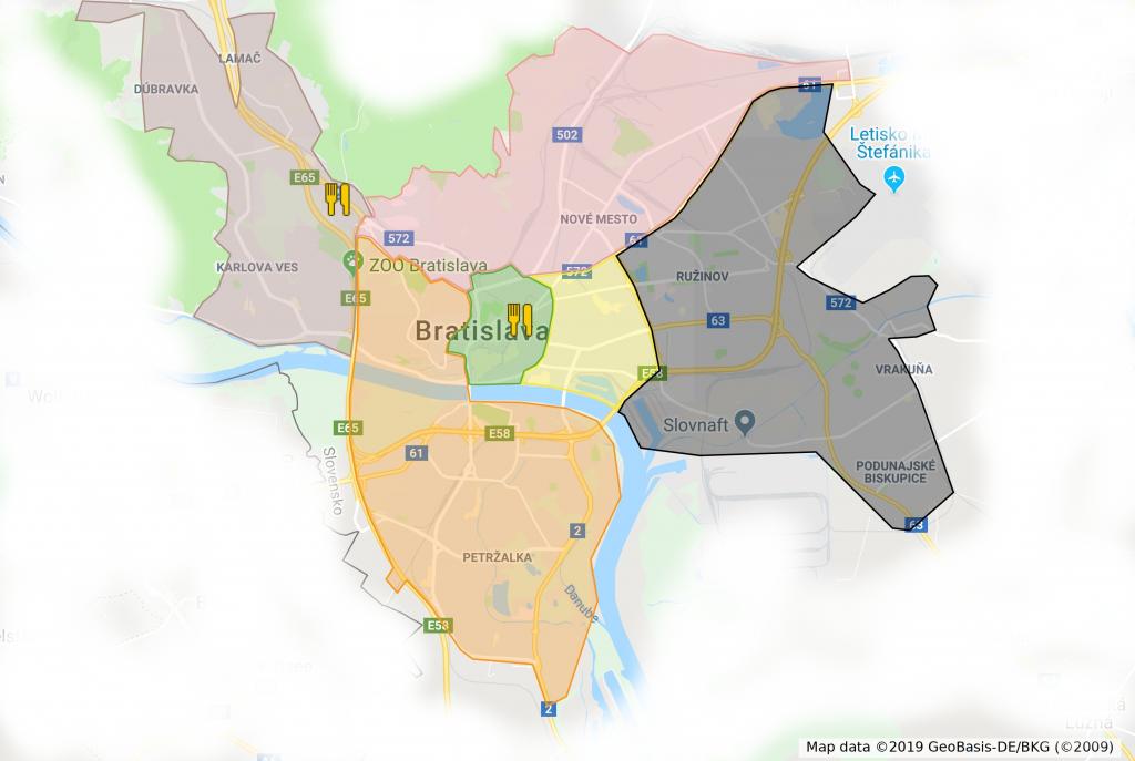 Mapa donasky